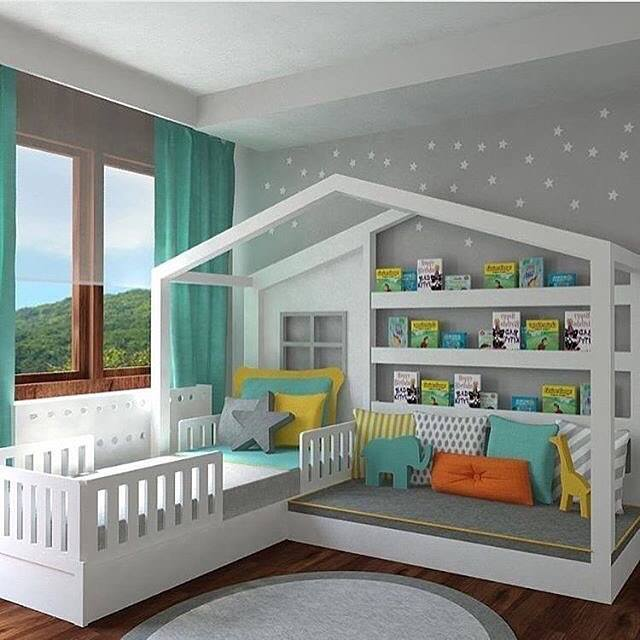 Bed with a Reading Nook   these are the BEST Reading Nook Ideas. The BEST DIY Reading Nook Ideas    Kitchen Fun With My 3 Sons