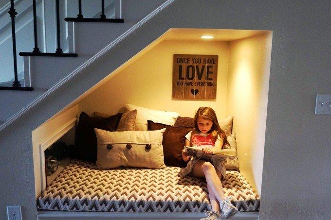 Under Stairs Reading Nook