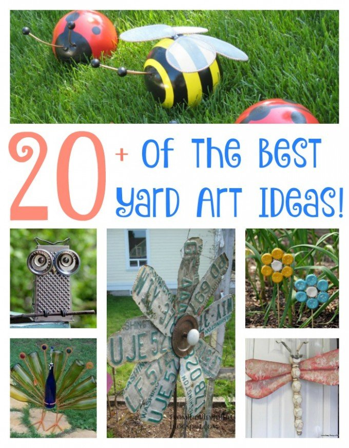 Over 20 of the BEST Yard Art Ideas from KitchenFunWithMy3Sons.com