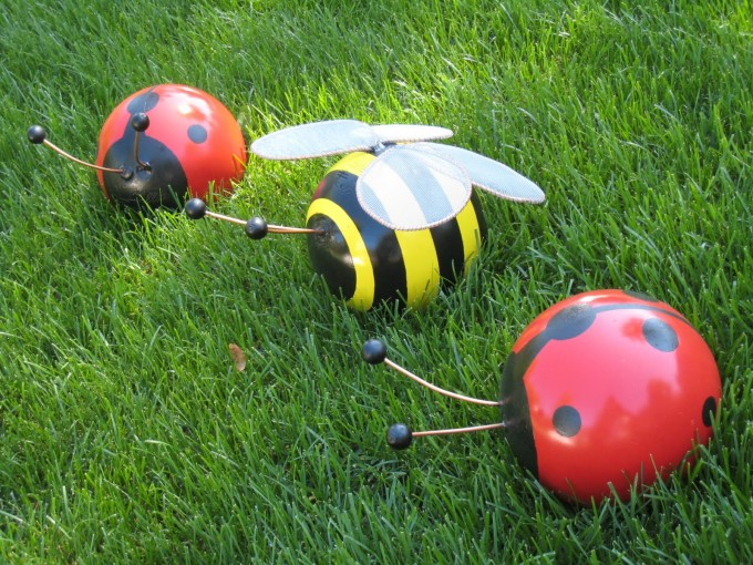 Bowling Ball Bugs Yard Art