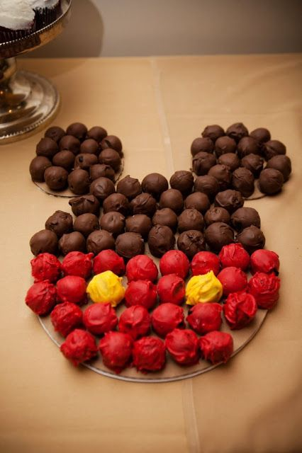 Mickey Mouse Cake Balls