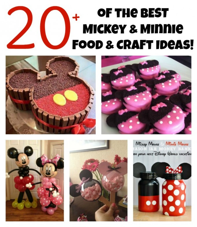 Over 20 Of The BEST Mickey Minnie Mouse Party Food Crafty Ideas