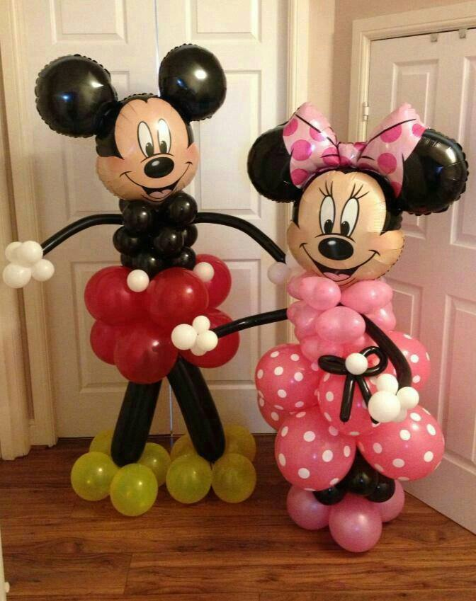 The best mickey mouse party food craft ideas for kids for Balloon decoration minnie mouse