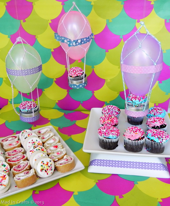 hot air balloon cupcake decorations - Party Decorating Ideas