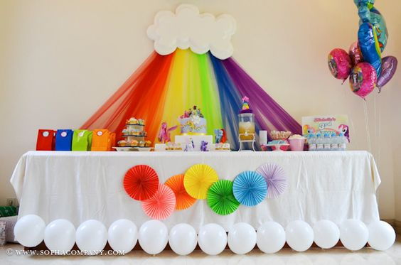 rainbow party backdrop decorations - Party Decorating Ideas