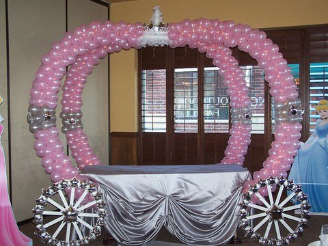 Cinderella Balloon Carriage Tablesuch A Cute Idea For Princess Party