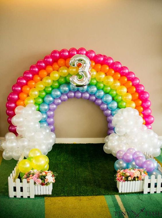 rainbow party balloons - Party Decorating Ideas