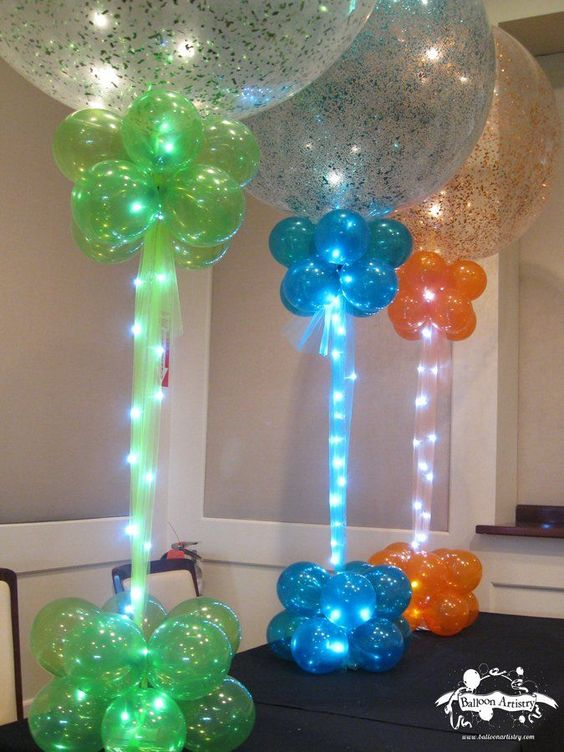 Balloons with Lights Centerpiece & The BEST Party Decorating Ideas u0026 Themes! - Kitchen Fun With My 3 Sons