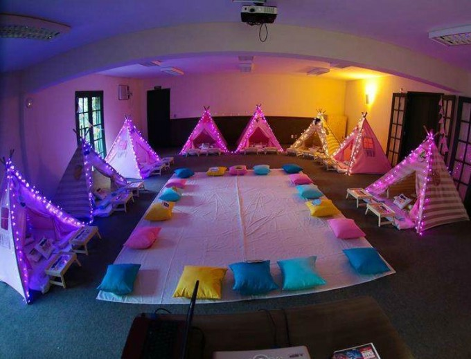 Redecoration Ideas Camping Sleepover Party Tents with Lights