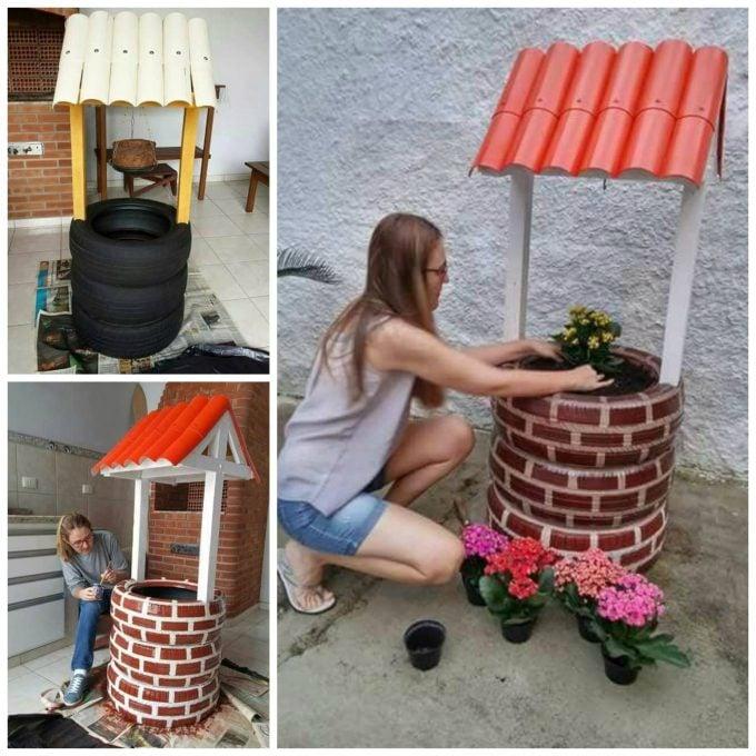 FLower Garden Wishing Well...these are the BEST DIY Garden & Yard Ideas!