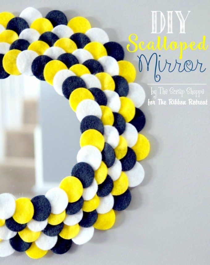 DIY Scalloped Mirror