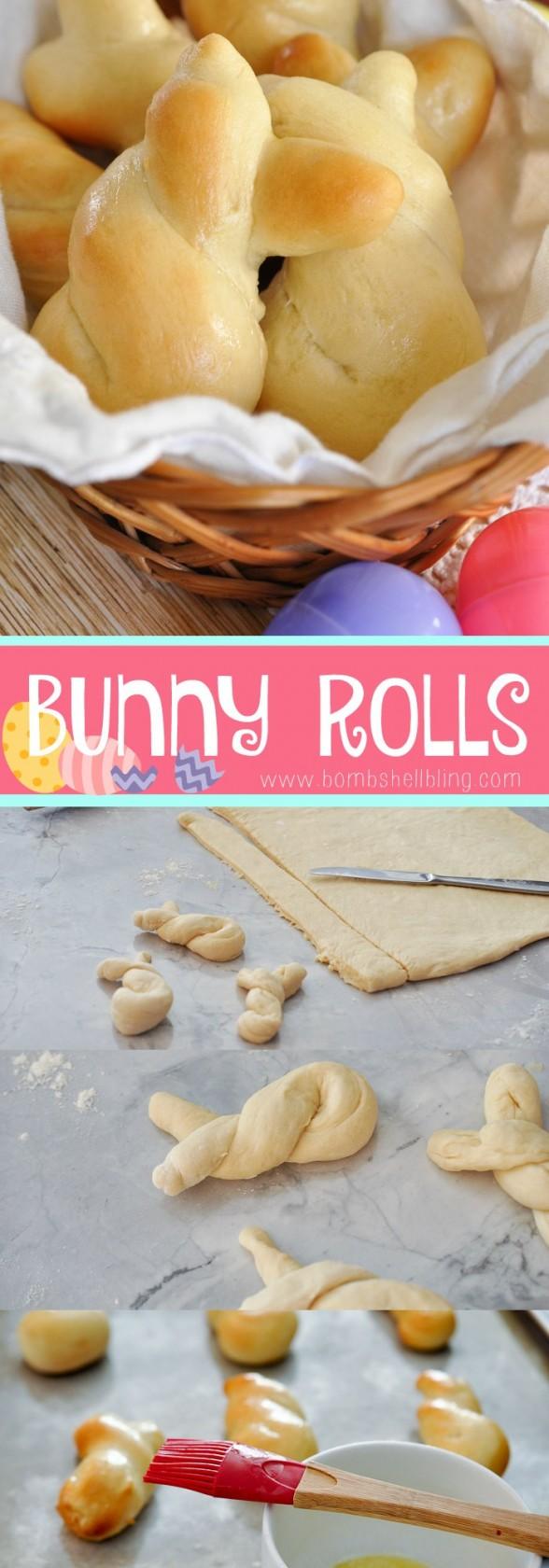 Easy Easter Bunny Rolls