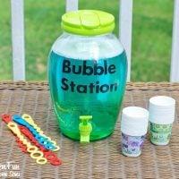 DIY Bubble Refill Station & Homemade Bubbles Recipe!