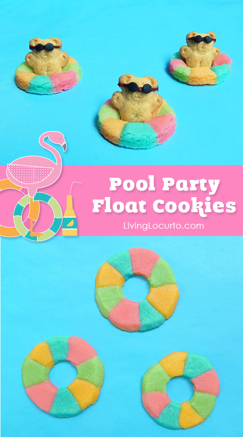 Pool Party Float Cookies made with Teddy Grahams...so cute!