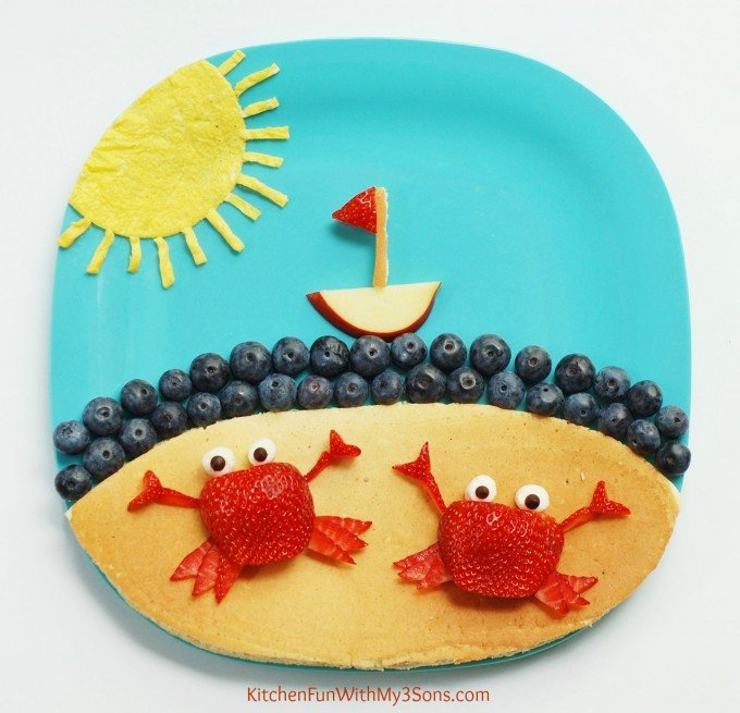Summer Crab Pancake Breakfast from KitchenFunWithMy3Sons.com