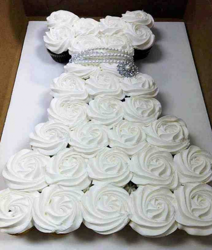 Cupcake Cake Wedding Dress
