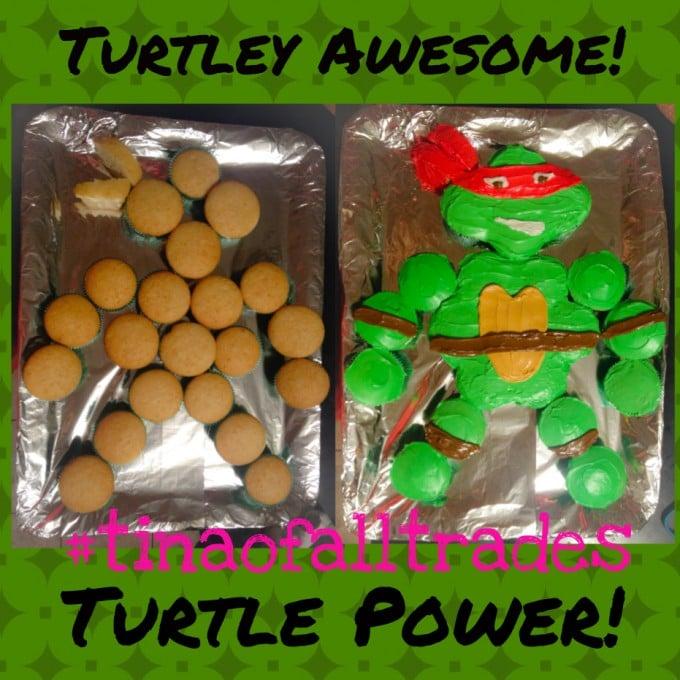 TMNT Pull-Apart Cupcake Cake