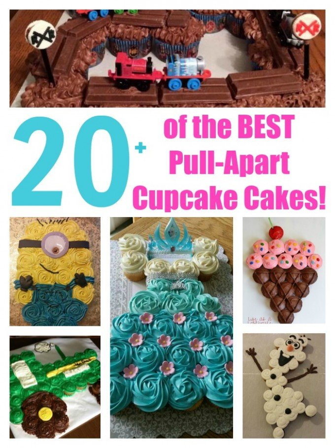 Over 20 Of The BEST Pull Apart Cupcake Cake Ideas From KitchenFunWithMy3Sons