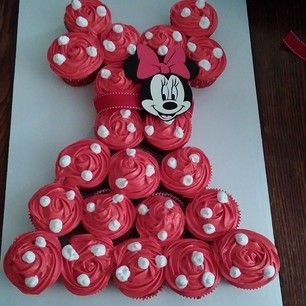 Minnie Mouse Cupcake Pull-Apart Cake...so cute!