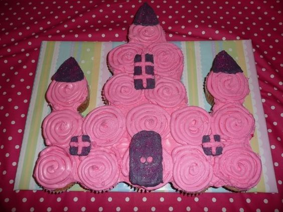 Princess Castle Cupcake Cakethese Are The BEST Pull Apart Cake Ideas