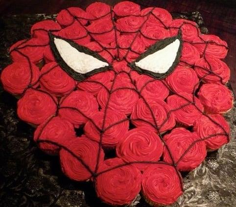 Spider Man Pull Apart Cupcake Cake