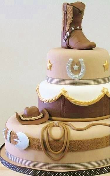 Cowboy Western Boot Cake