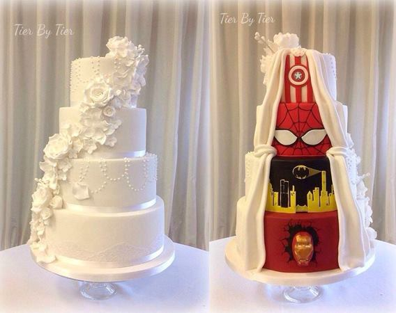 Formal / Super Hero Wedding Cake