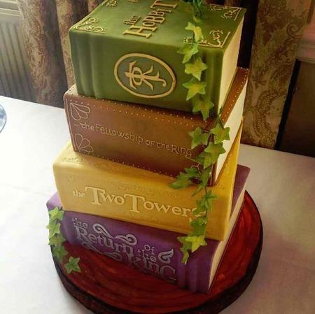 Fantasy Book Cake