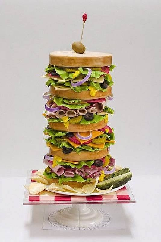 Stacked Sandwich Cake