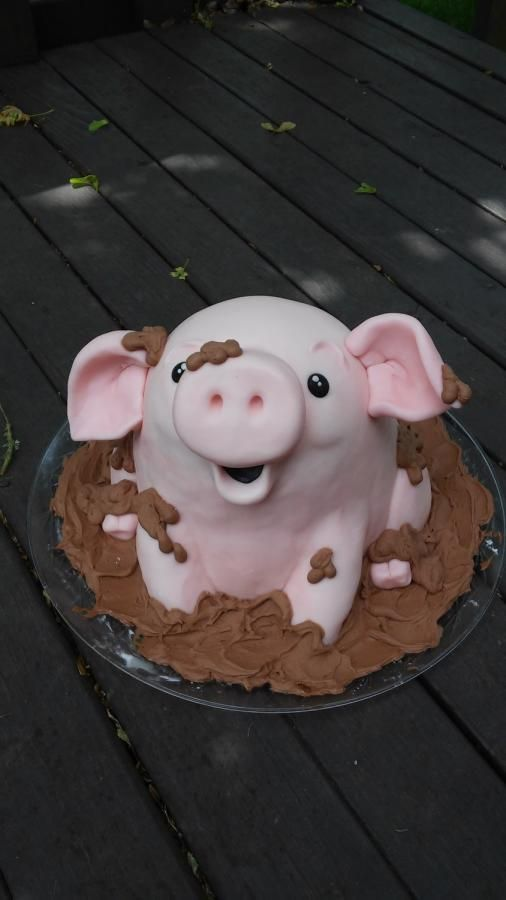 How To Make Pig Mud Bath Cake