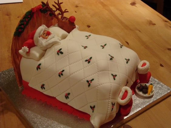 Sleeping Santa Cake...these are the BEST Cake Ideas!