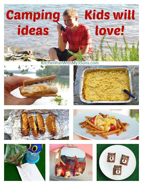 Camping Ideas that Kids will Love from KitchenFunWithMy3Sons.com