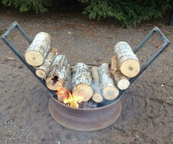 All Night Campfire Wood Burning Idea