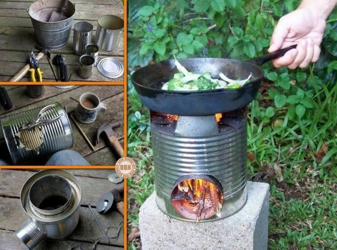 DIY Portable Tin Can Rocket Stove for Camping Trips!