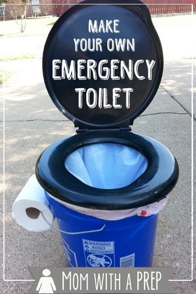 Make your own Emergency Toilet for Camping Trips!