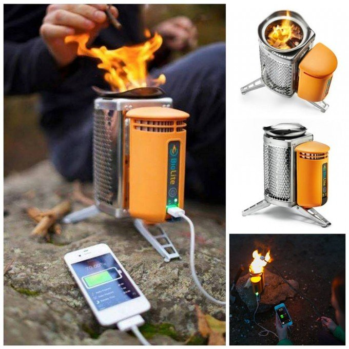 Wood Burning Camp Stove that also Charges your Cell Phone...great Camping idea!