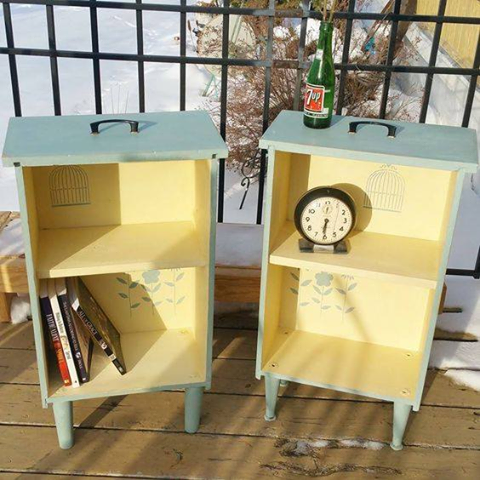 Turn Drawers Into Side Tables With Shelves Awesome Upcycle Ideas