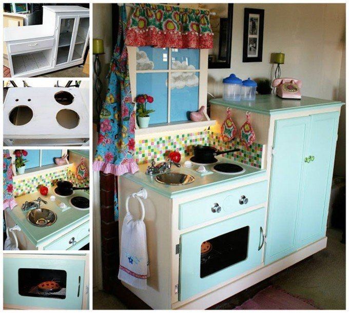 Turn an Old Cabinet into a Play Kitchen...awesome Upcycle Ideas!