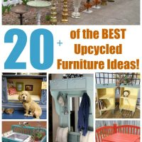 Over 20 of the BEST Upcycled Furniture Ideas from KitchenFunWithMy3Sons.com