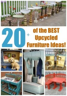 20+ of the BEST Upcycled Furniture Ideas!