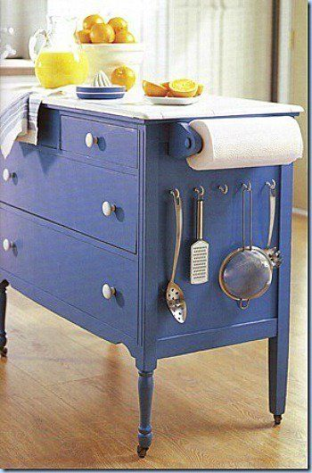 Turn An Old Dresser Into A Kitchen Island...awesome Upcycled Ideas!