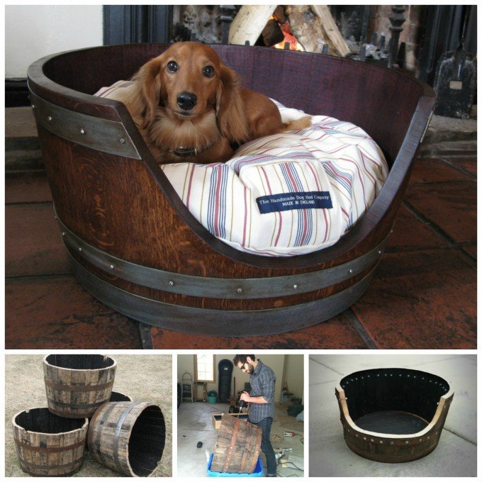 Make a Dog Bed from a Wine Barrel....awesome Upcycled & Repurposed Ideas!