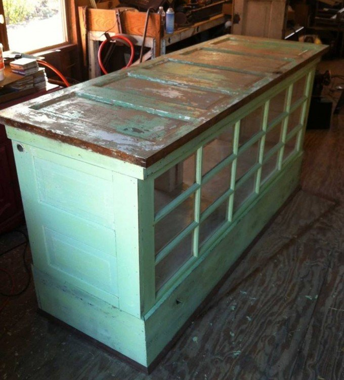 Kitchen Island Made From Old Desk: 20+ Of The BEST Upcycled Furniture Ideas!