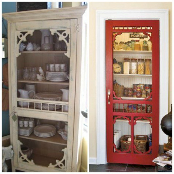 Turn Old Screen Doors into Pantry Doors...these are awesome Upcycled & Repurposed ideas!
