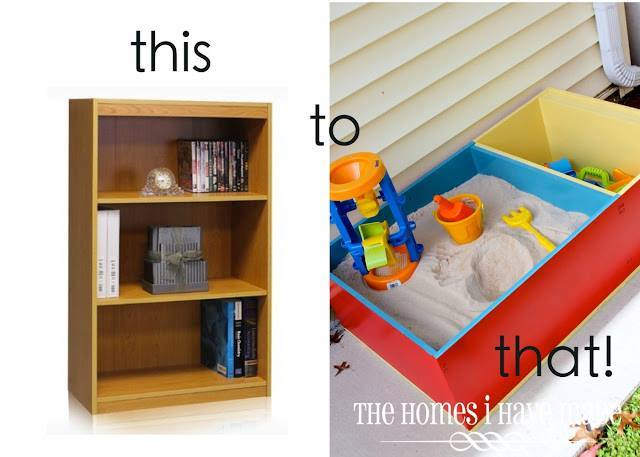 Turn an Old Bookcase into a Sandbox...awesome Upcycle Ideas!