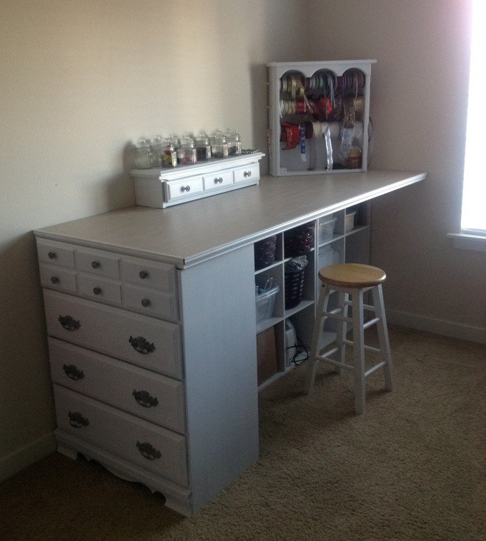 Turn A Old Dresser Into Craft Station These Are The Best Upcycled