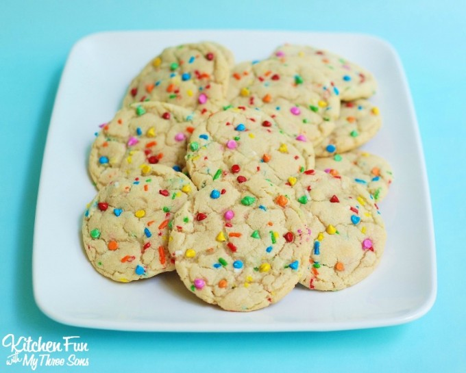 Funfetti Cookies With White Chocolate Chips