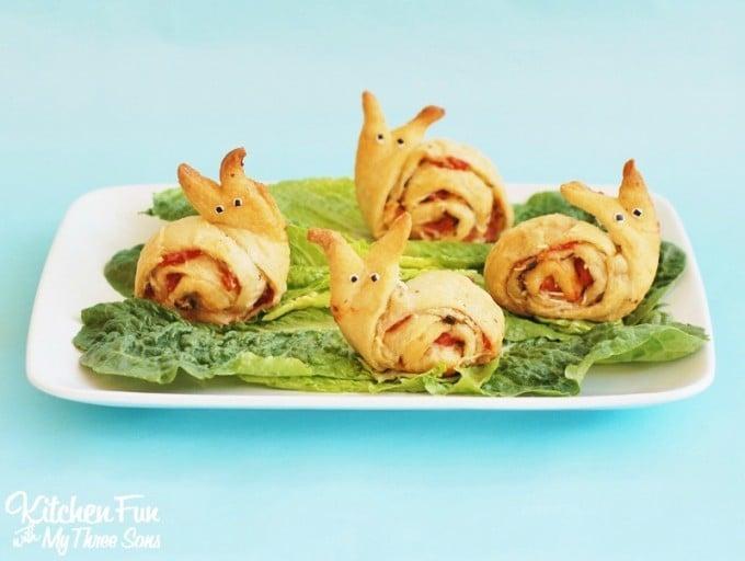 Snail Pesto Pinwheel Appetizer