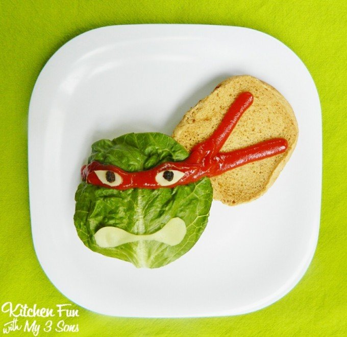 Teenage Mutant Ninja Turtle Burgers....your kids will love this TMNT dinner!