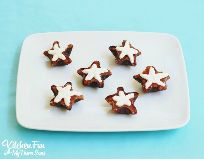 Red, White, & Blue Patriotic Star Appetizer Snacks